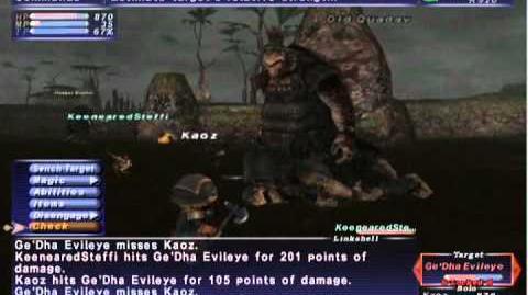 FFXI NM Saga 349 Ge'Dha Evileye vs BST Full Battle