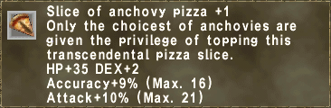Slice of anchovy pizza +1