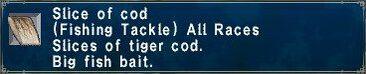 Sliced cod