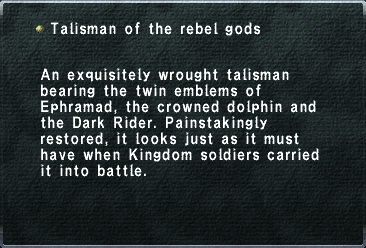 Talisman of the Rebel Gods