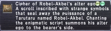 Cipher of Robel-Akbel