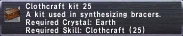 Clothcraft Kit 25