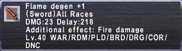 Flame Degen +1