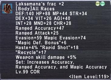 Laksamana's Frac +2