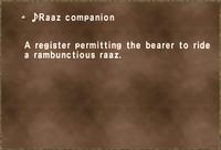 ♪Raaz companion