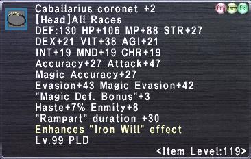 Caballarius coronet +2
