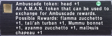 Ambuscade Token Head +1