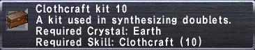 Clothcraft Kit 10