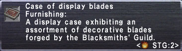 Display blades info