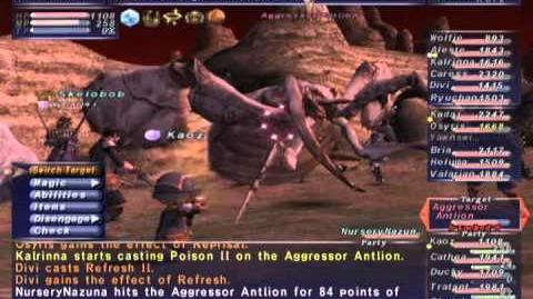 FFXI NM Saga 250 Aggressor Antlion NM Full Battle