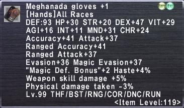 Meghanada Gloves +1