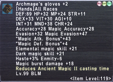 Archmage's gloves +2