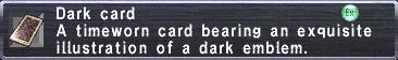 Dark Card (Sphere)
