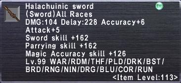 Halachuinic sword