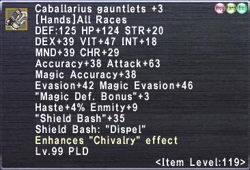 Caballarius gauntlets +3