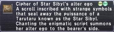Cipher StarSibyl