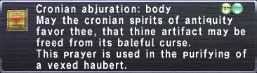 Cronian Abjuration Body