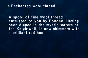 Enchanted wool thread