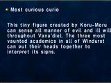Most curious curio