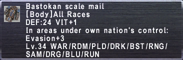 Bastokan Scale Mail