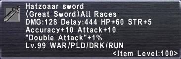 Hatzoaar Sword