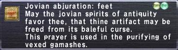 Jovian Abjuration Feet