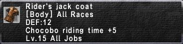RidersJackCoat