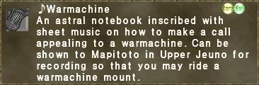 ♪Warmachine