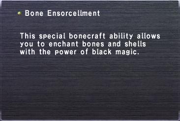 Bone ensorcellment