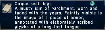 Cirque Seal - Legs