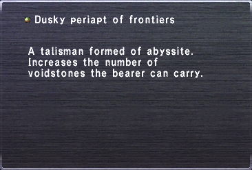 Dusky periapt of frontiers