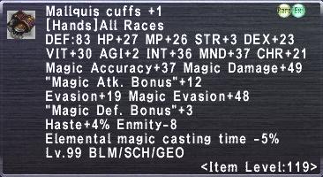 Mallquis Cuffs +1