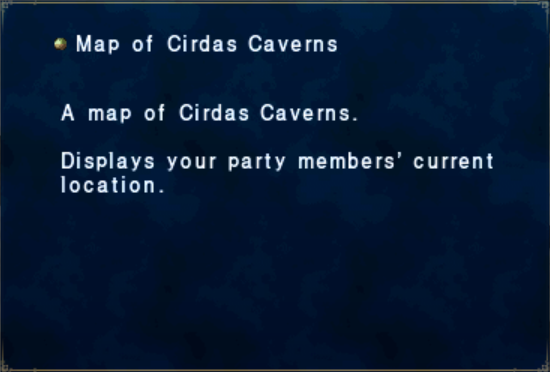 Map of Cirdas Caverns