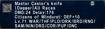 Master Caster's Knife