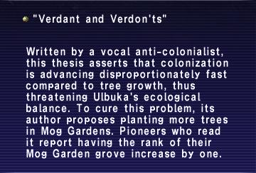 Verdant and Verdon'ts