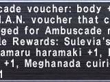 Ambuscade Voucher: Body +1