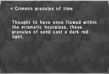 Crimson granules of time