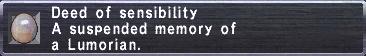Deed of Sensibility