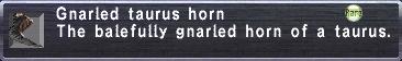 Gnarled taurus horn