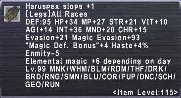 Haruspex Slops +1