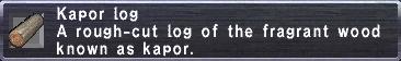 Kapor Log