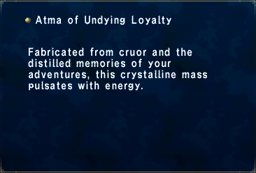 Undying loyalty atma