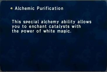 Alchemic Purification