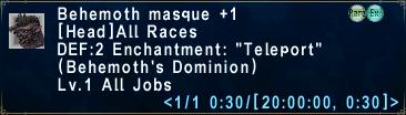Behemoth Masque +1