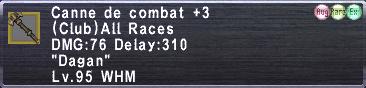 Canne de Combat +3