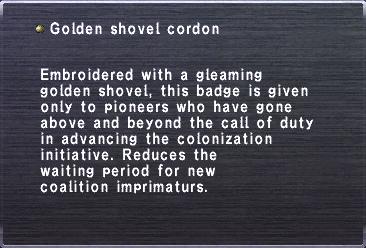 Golden shovel cordon