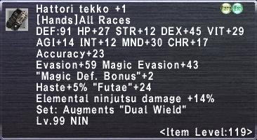 Hattori Tekko +1
