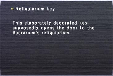 Reliquiarium Key