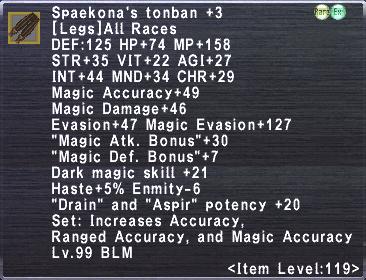 Spaekona's Tonban +3