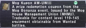 Kupon AW-UWIII